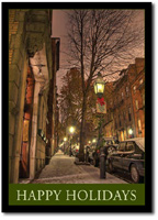 City Sidewalk (25 cards & envelopes) - Boxed Holiday Cards