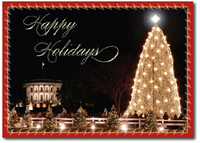 Grand Christmas Tree (25 cards & envelopes) Personalized Washington, DC Boxed Christmas Cards