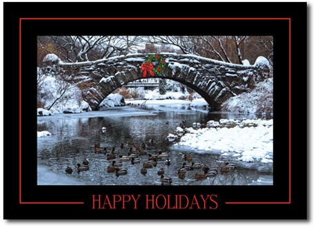 Bridge over Chilly Waters (25 cards & envelopes) Personalized New York City Boxed Holiday Cards