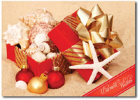 Gift of Sea Shells (25 cards & envelopes) Personalized Miami Florida Boxed Holiday Cards