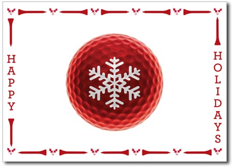 Golf Enthusiast (25 cards & envelopes) Personalized Boxed Holiday Cards