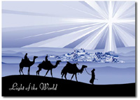 Light of the World (25 cards & envelopes) Personalized Religious Boxed Christmas Cards