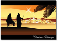 The Holy Family (25 cards & envelopes) Personalized Religious Boxed Christmas Cards