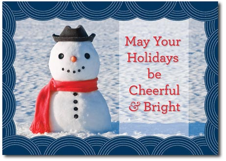Happy Snowman (25 cards & envelopes) Personalized Boxed Holiday Cards