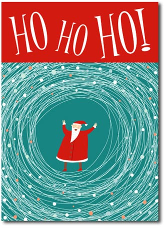 Ho Ho Ho! (25 cards & envelopes) Personalized Boxed Christmas Cards
