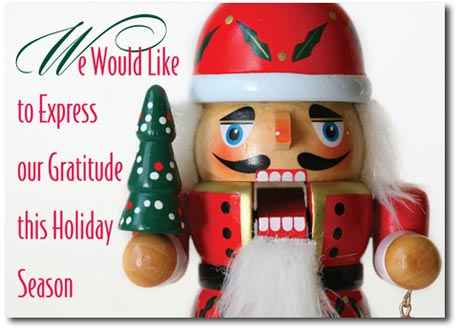 The Classic Nutcracker (25 cards & envelopes) Personalized Boxed Holiday Cards