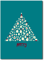 Tree of Gifts (25 cards & envelopes) - Boxed Christmas Cards