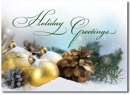 Glittering Greetings (25 cards & envelopes) Personalized Boxed Holiday Cards