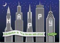 Birthday Skyscrapers (25 cards & envelopes) Personalized Business Boxed Birthday Cards