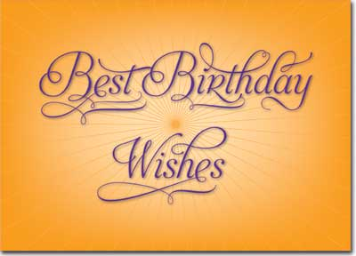 Best Birthday Wishes (25 cards & envelopes) Personalized Business Boxed Birthday Cards
