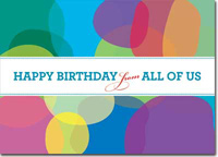 Birthday Circles (25 cards & envelopes) Personalized Business Boxed Birthday Cards