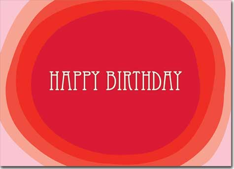 Birthday Reds (25 cards & envelopes) - Boxed Birthday Cards
