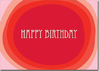 Birthday Reds (25 cards & envelopes) Personalized Business Boxed Birthday Cards