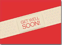 Get Well Soon Band-Aid (25 cards & envelopes) Personalized Business Boxed Get Well Cards