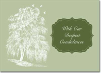 Sympathy Willow Tree (25 cards & envelopes) Personalized Business Boxed Sympathy Cards