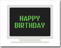 Birthday Computer (25 cards & envelopes) - Boxed Birthday Cards