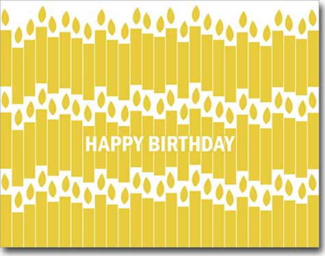 Yellow Birthday Candles (25 cards & envelopes) - Boxed Birthday Cards