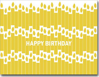 Yellow Birthday Candles (25 cards & envelopes) Personalized Business Boxed Birthday Cards