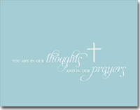 Thoughts and Prayers (25 cards & envelopes) Personalized Business Boxed Sympathy Cards