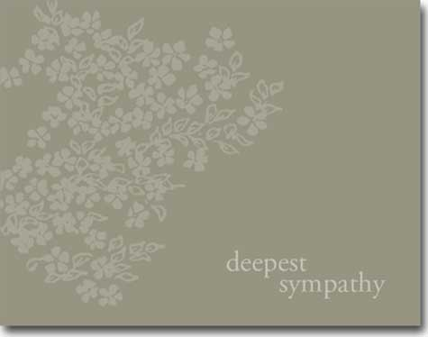 Deepest Sympathy Flowers (25 cards & envelopes) - Boxed Sympathy Cards