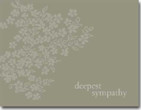 Deepest Sympathy Flowers (25 cards & envelopes) Personalized Business Boxed Sympathy Cards