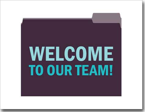 Welcome to Team (25 cards & envelopes) Personalized Business Boxed Congratulations Cards