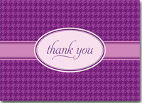 Thank You on Purple Plaid (25 cards & envelopes) Personalized Business Boxed Thank You Cards