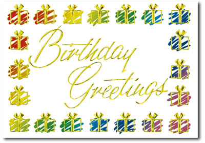 Birthday Greetings (25 cards & envelopes) Personalized Business Boxed Birthday Cards