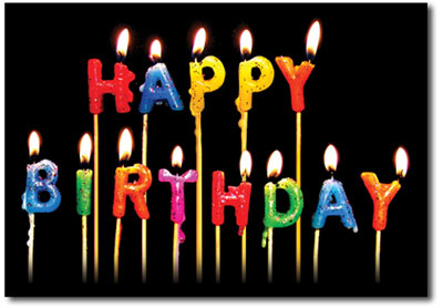 Happy Birthday Candles (25 cards & envelopes) Personalized Business Boxed Birthday Cards