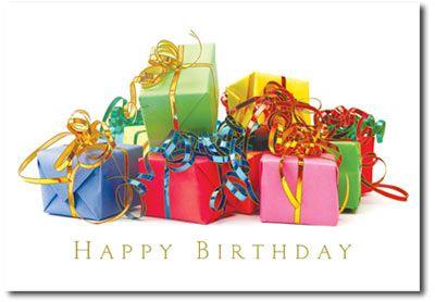 Colorful Presents (25 cards & envelopes) - Boxed Birthday Cards