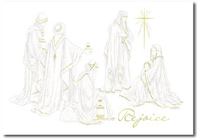 Three Wisemen with Holy Family (25 cards & envelopes) Personalized Religious Boxed Christmas Cards