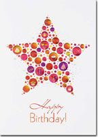 Birthday Embossed Star (25 cards & envelopes) - Boxed Birthday Cards