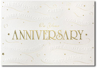Anniversary Good Wishes (25 cards & envelopes) Personalized Business Boxed Anniversary Cards