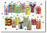 Birthday Presents (25 cards & envelopes) Personalized Business Boxed Birthday Cards