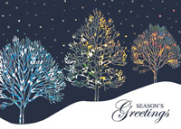 Trees of Silver Foil (25 cards & envelopes) - Boxed Christmas Cards
