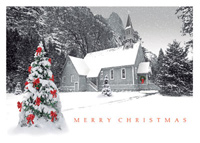 Quaint Country Church (25 cards & envelopes) - Boxed Christmas Cards