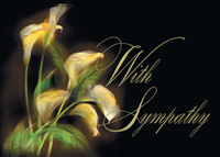 Illuminating Lilies (25 cards & envelopes) Personalized Recycled Business Boxed Sympathy Cards