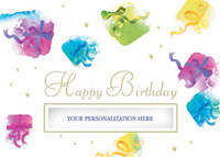 Birthday Gifts Galore! (25 cards & envelopes) Personalized Recycled Business Boxed Birthday Cards