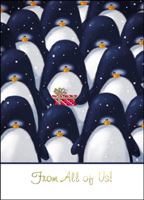 Penguin Assembly (25 cards & envelopes) - Boxed Holiday Cards