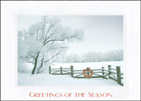 Country Fence (25 cards & envelopes) - Boxed Holiday Cards