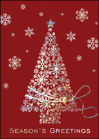 Iridescent Tree (25 cards & envelopes) - Boxed Christmas Cards