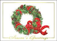 Traditional Wreath (25 cards & envelopes) - Boxed Holiday Cards