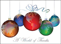 Global Thanks (25 cards & envelopes) - Boxed Christmas Cards