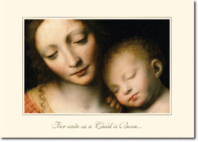 The Sleep of the Infant Jesus (25 cards & envelopes) Personalized Religious Boxed Christmas Cards