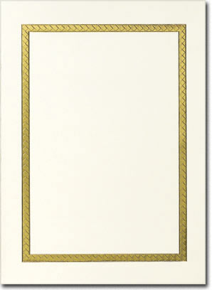 Gold Border on Ivory Photo Holder (25 cards & envelopes) Personalized Boxed Holiday Cards
