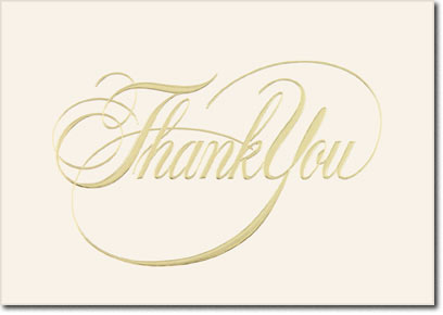 Elegant Thank You (25 cards & envelopes) Personalized Business Boxed Thank You Cards