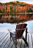Calm Lake in Autumn (25 cards & envelopes) - Boxed Thanksgiving Cards