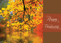 Autumn Reflection (25 cards & envelopes) Personalized Business Boxed Thanksgiving Cards