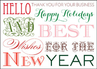Graphic Greetings (25 cards & envelopes) Custom Imprint Business Boxed New Year Cards