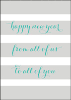 New Year Wishes (25 cards & envelopes) - Boxed New Year Cards